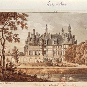 Château chambord [dessin] L.Goblain © BnF